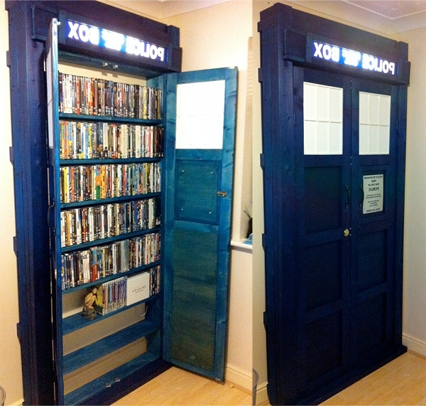 Tardis Bookcases With Regard To Most Up To Date Tardis Bookshelf. What Fun. (Madigan Reads) (View 11 of 15)