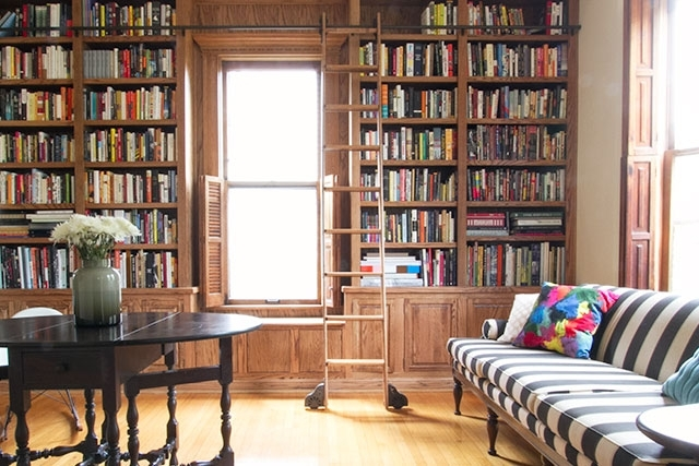 The Built In Library Shelves, With Books – Making It Lovely Pertaining To 2017 Library Shelves For Home (View 5 of 15)
