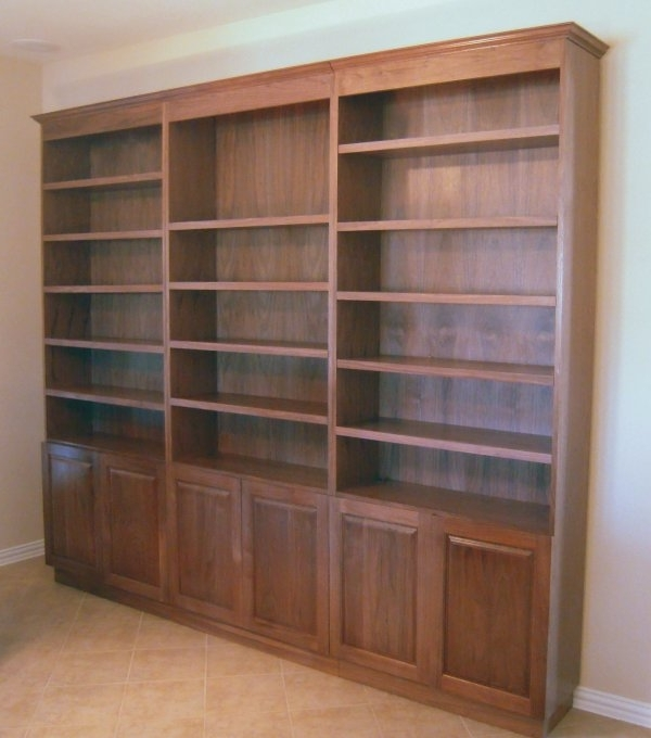 These Are Three Separate Bookcases Made From Furniture Grade Inside Favorite Bookcases With Cupboard (View 12 of 15)
