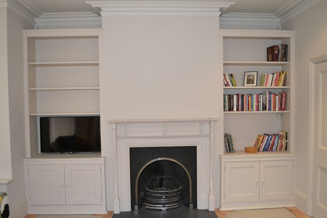 Toby Cufflin Fine Woodwork In Popular Fitted Cabinets Living Room (View 13 of 15)