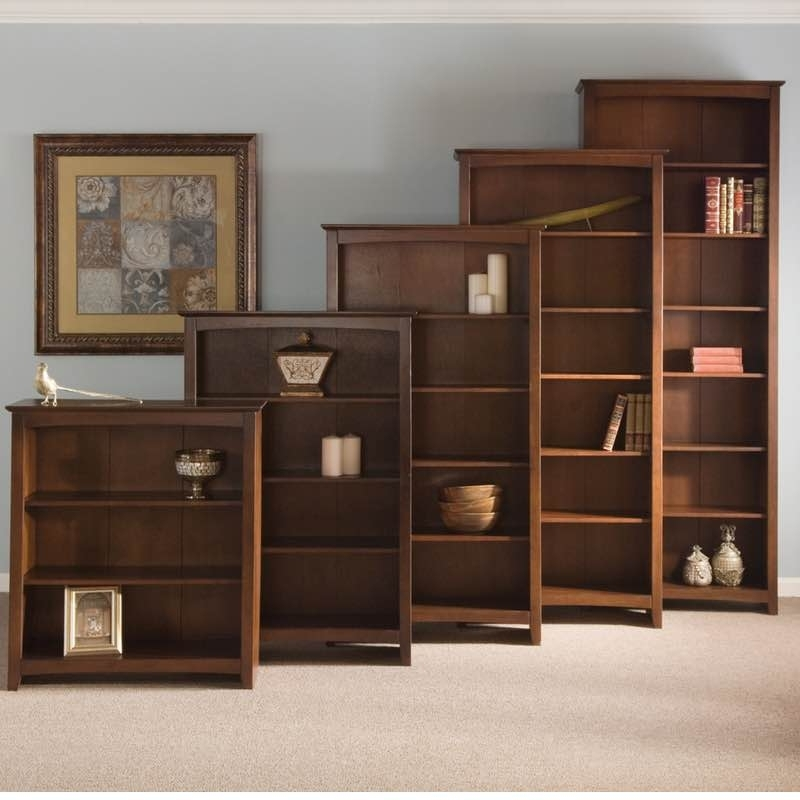 Top Espresso Shaker Wood Bookcases Pertaining To Famous Wood Bookcases (View 8 of 15)