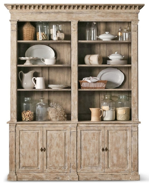 Traditional Bookcases With Regard To Best And Newest Eloquence – Eloquence  Le Baux Cabinet In Oak Driftwood & Reviews (View 10 of 15)