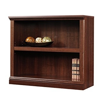 Trendy Amazon: Sauder 2 Shelf Bookcase, Select Cherry Finish: Kitchen With Regard To 2 Shelf Bookcases (View 4 of 15)