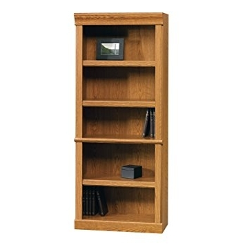 Trendy Amazon: Sauder Orchard Hills Library, Carolina Oak: Kitchen In Oak Library Bookcases (View 12 of 15)