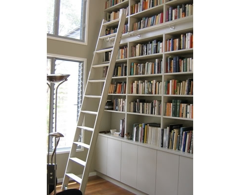 Trendy Bookcase With Ladder And Rail – Tanningworldexpo Pertaining To Bookcases With Ladder And Rail (View 12 of 15)