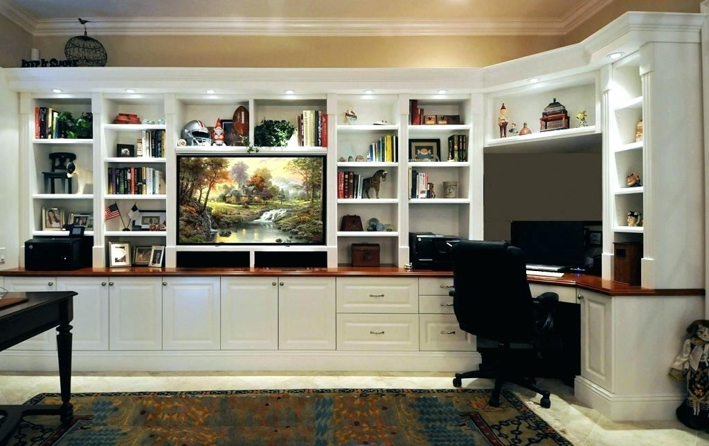 Trendy Bookcase With Tv Space Hackers Billy Bookcases To Built Ins Family In Bookshelves With Tv Space (View 12 of 15)