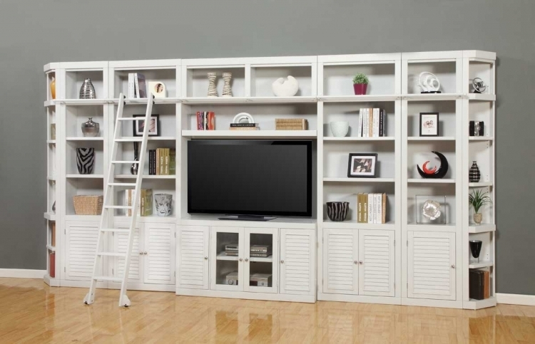 Trendy Bookcases Library Wall Unit With Regard To Parker House Boca Library Bookcase Wall Unit Set – A Ph Boc#wall (View 13 of 15)