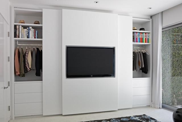 Trendy Built In Wardrobes With Tv Space In Tv Closet (View 2 of 15)