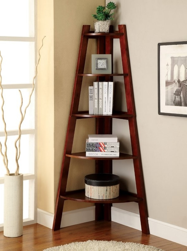 Trendy Corner Bookcases In Beachcrest Home Pierview Corner Unit Bookcase & Reviews (View 13 of 15)