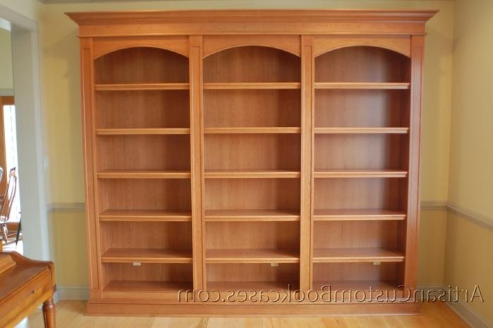 Trendy Custom Built In Bookcases – Artisan Custom Bookcases Intended For Custom Bookcases (View 14 of 15)