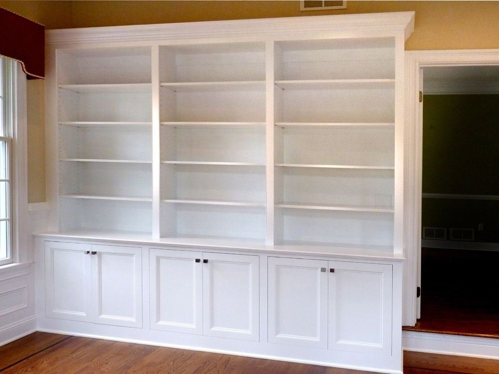 Trendy Custom Made Home Office Built In Bookcasesstuart Home Regarding Built In Bookshelves Kits (View 4 of 15)