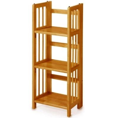 Trendy Folding Bookcases Within 58 Folding Stacking Bookcase, Bookcases For Sale At Hayneedlecom (View 14 of 15)
