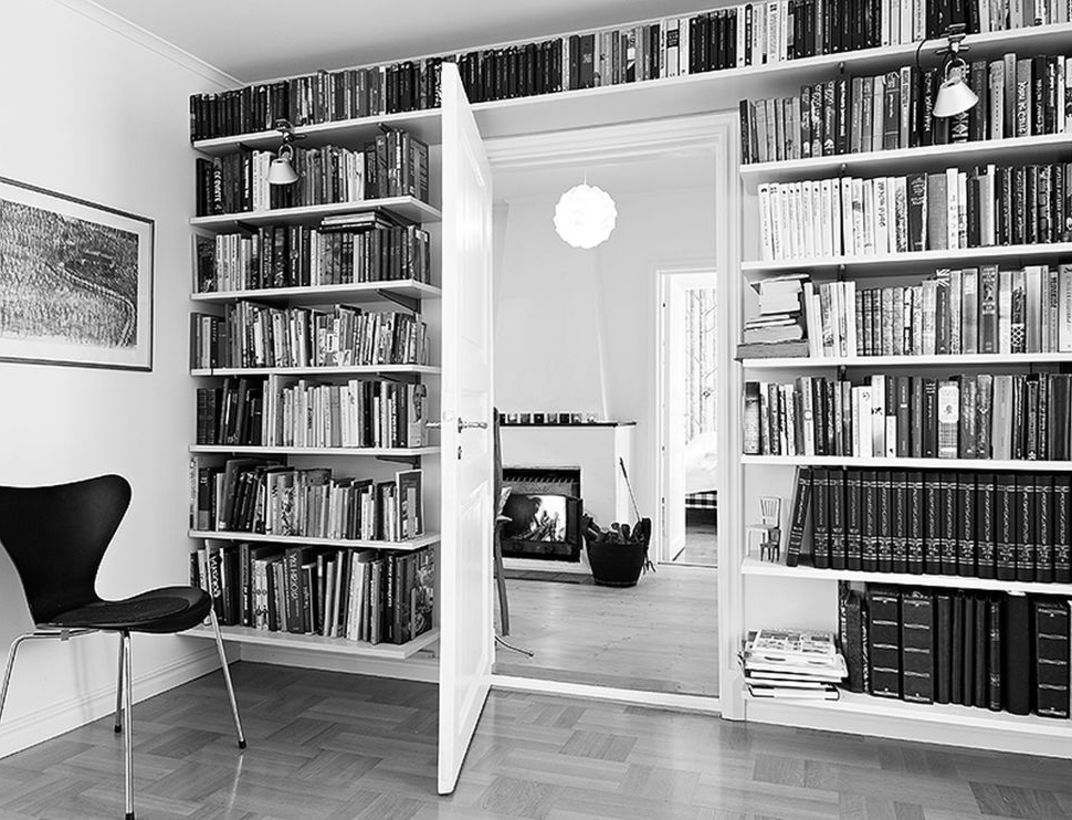 Trendy Furniture:the Appealing Home Library Featuring The Extensive Floor For White Library Bookcases (View 9 of 15)