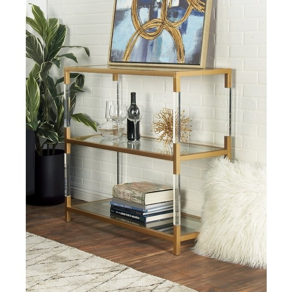 Trendy Gold Bookcases You'll Love (View 14 of 15)