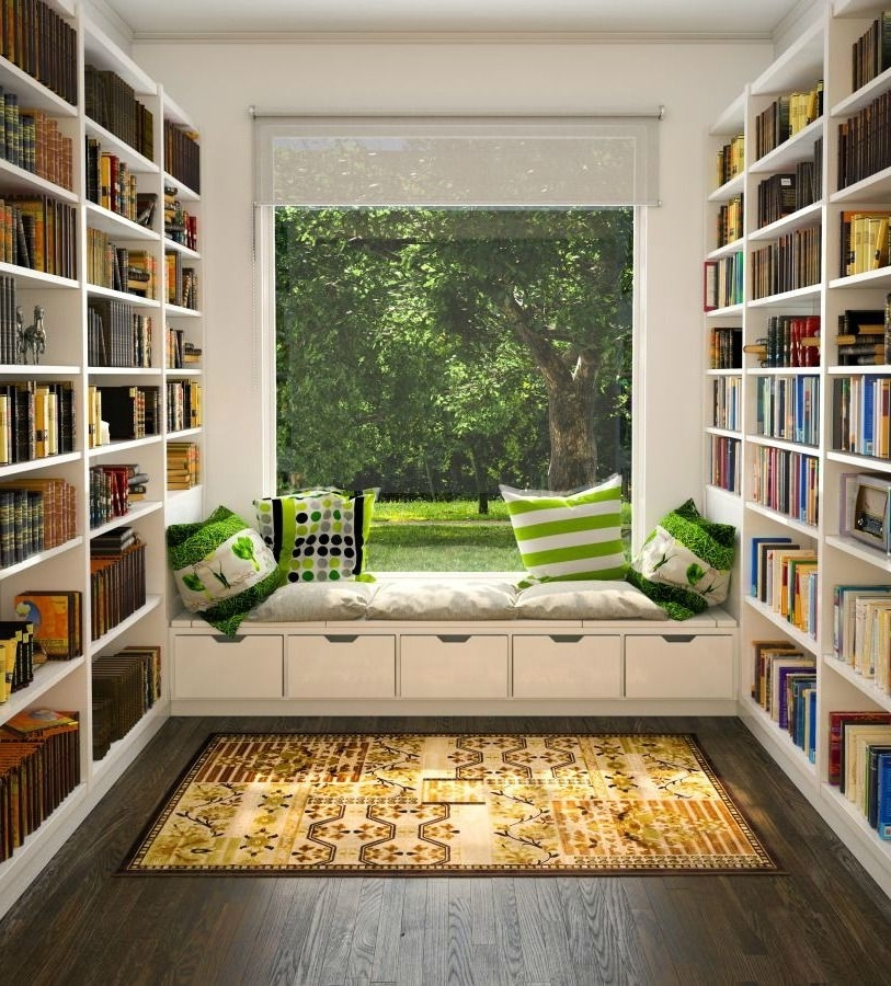 Trendy Home Library Shelving Intended For 38 Fantastic Home Library Ideas For Book Lovers (View 1 of 15)