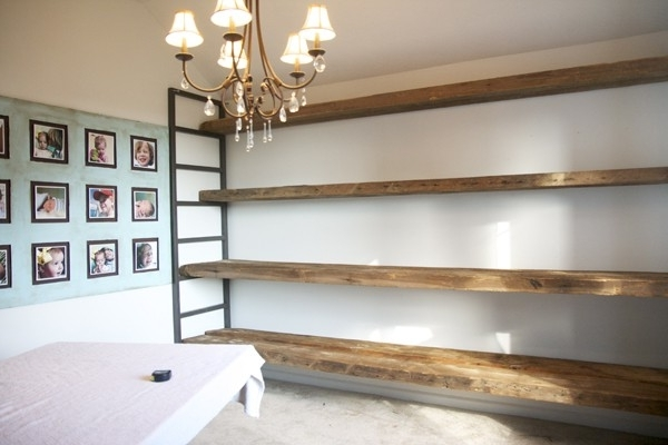 Trendy How To Build Shelving From Reclaimed Wood Within Handmade Wooden Shelves (View 13 of 15)