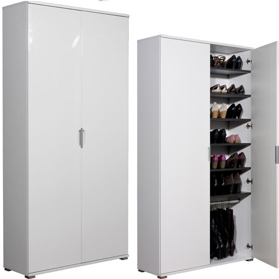 Trendy Large Shoe Storage Cabinet – Valeria Furniture For Large Storage Cupboards (View 13 of 15)