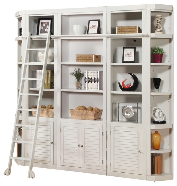 Trendy Library Bookcases Wall Unit With Regard To Parker House – Boca 5 Piece Library Bookcase Wall Unit, Cottage (View 3 of 15)