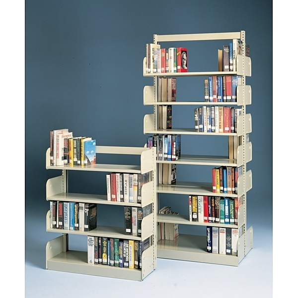 Trendy Library Shelfs Within Estey® Single Faced Steel Cantilever Library Shelving – Demco – (View 11 of 15)