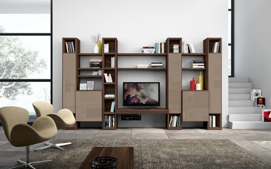 Trendy Living Room Storage Units Intended For Furniture: Bookshelf And Open Shelf Of Living Room Storage Unit (View 13 of 15)