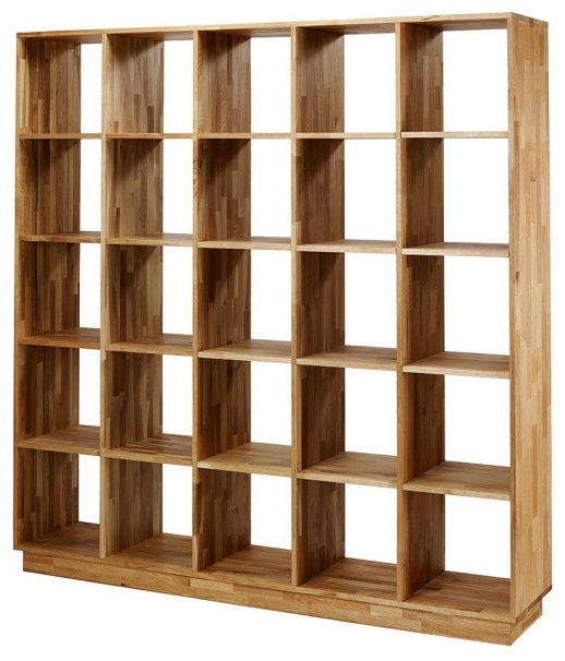 Trendy Mash Studios – Mash Lax Solid Wood Large Modern Bookshelf – View Inside Solid Oak Bookcases (View 13 of 15)
