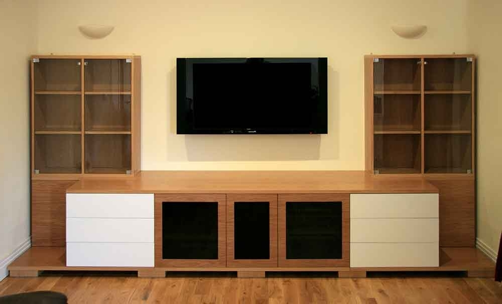 Trendy Oak Av Furniture, Oak Av Cabinets, Oak Tv Stands, Oak Media Wall For Bespoke Tv Unit (View 14 of 15)