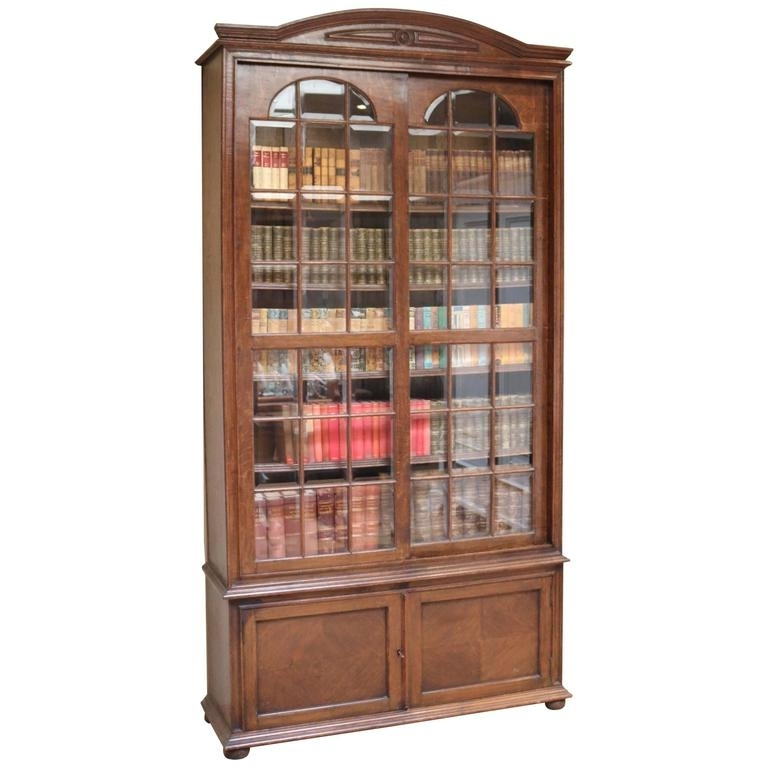 Trendy Oak Glazed Bookcases For Solid Oak Glazed Bookcase For Sale At 1Stdibs (View 14 of 15)