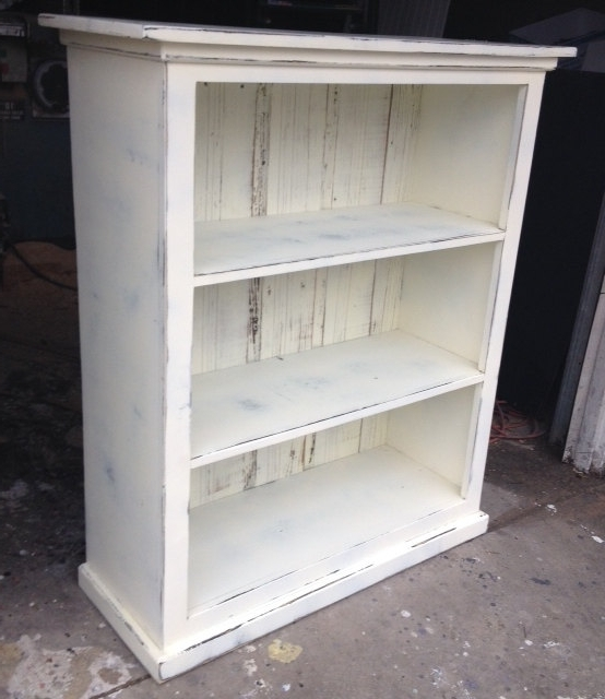 Trendy Shabby Chic Bookcases With Regard To Bookcase Antique White Distressed Shabby Chic Ready To Ship (View 14 of 15)