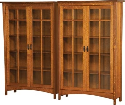 Trendy Solid Wood Bookcases Within Solid Wood Bookcase Arts And Crafts Bookcase With Four Doors Solid (View 7 of 15)