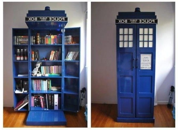 Trendy This Diy Tardis Bookshelf Is A 'doctor Who' Lover's Dream (View 2 of 15)