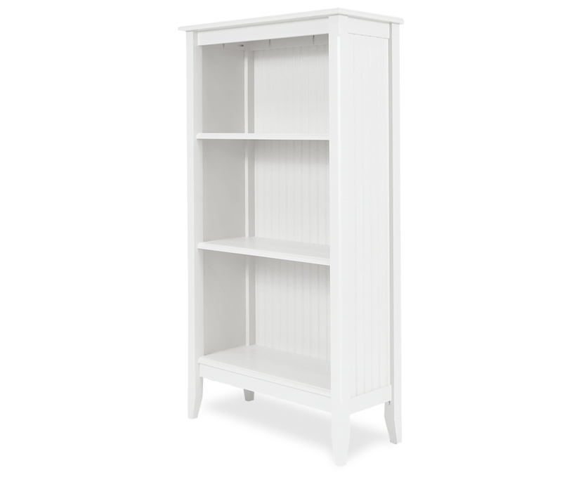 Trendy White Beadboard Bookcase Cottage Style Bookcases White Tall Tall Regarding Tall White Bookcases (View 14 of 15)
