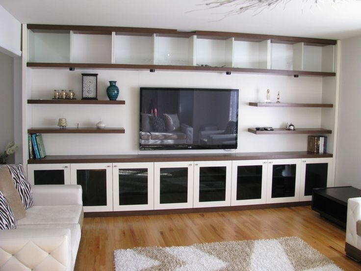 Tv And Bookshelves Intended For 2017 Wall Units Astonishing Bookshelf Entertainment Unit Diy Built In (View 10 of 15)