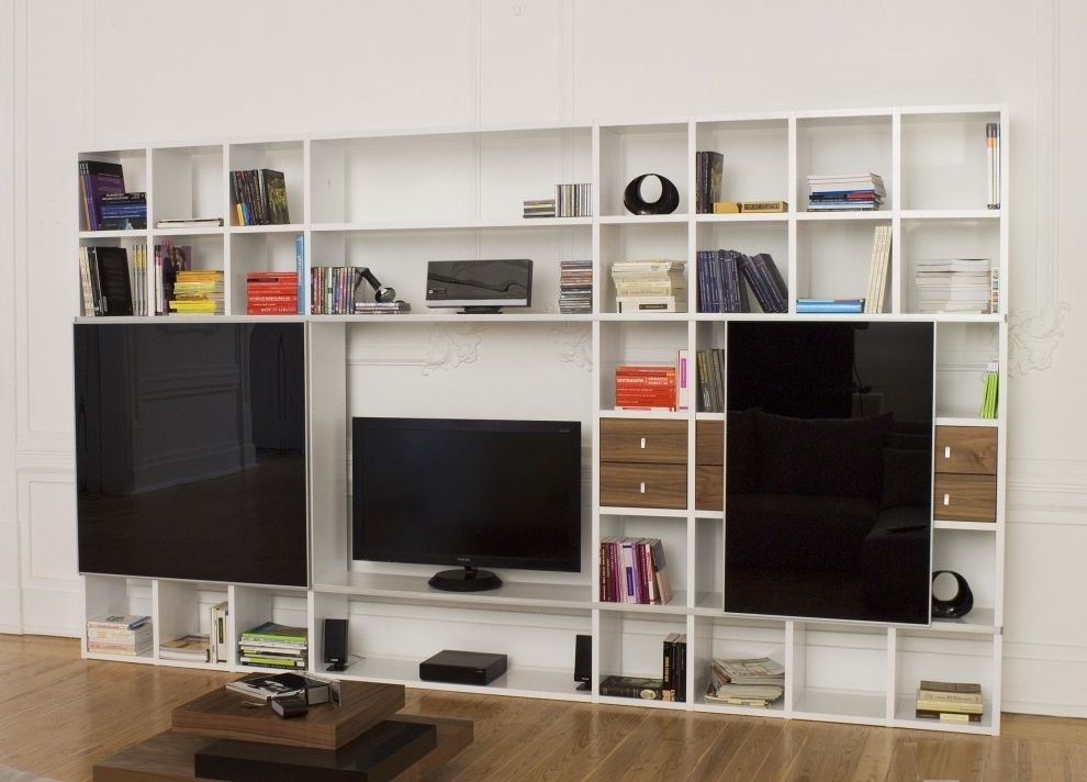 Tv And Bookshelves Regarding Preferred Wall Units (View 12 of 15)