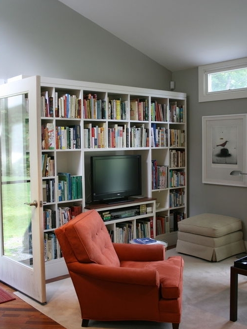 Tv Book Shelf With Most Recent Bookshelf With Tv Space Bookcases With Tv Elegant New Design (View 9 of 15)