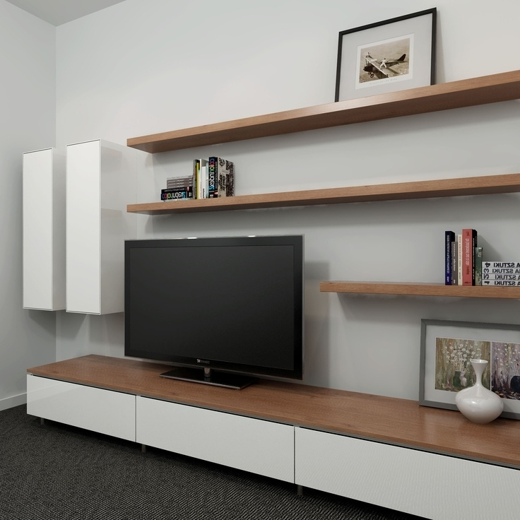 Tv Bookshelves Unit Throughout Latest Wall Units: Interesting Floating Entertainment Unit Floating Tv (View 11 of 15)