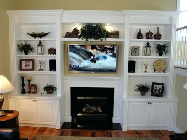 Tv Display Unit Within Built In Bookcases With Tv (View 14 of 15)