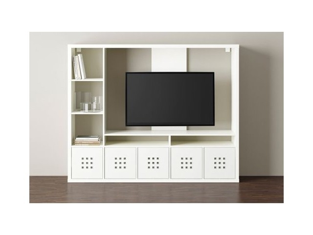 Tv Storage Unit With Most Popular Lappland Tv Storage Unit White Download Page – (View 9 of 15)