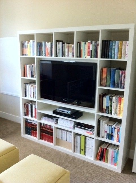 Tv Storage Units Inside Well Liked Ikea Expedit Tv Storage Unit (White) (View 8 of 15)