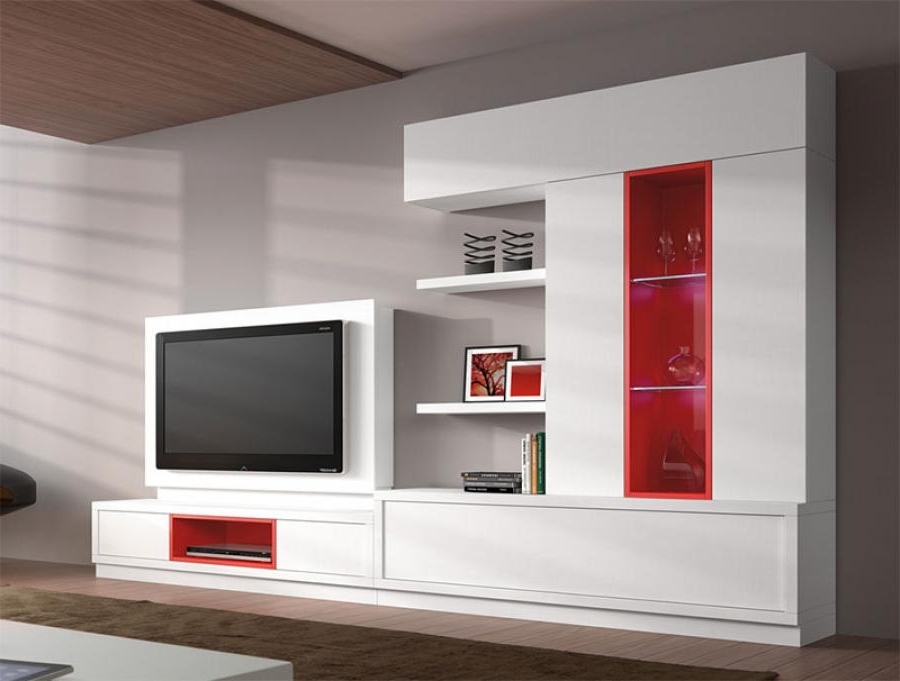 Tv Storage Units With Regard To 2017 Furniture: White Living Room Storage Unit With Tv Cabinet And Open (View 11 of 15)