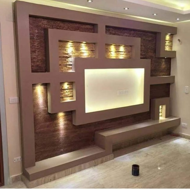 Tv Wall Unit Intended For Newest 18 Best Tv Wall Units With Led Lighting That You Must See (View 10 of 15)
