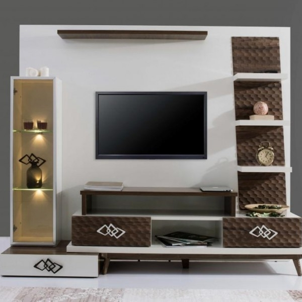 Tv Wall Unit With Regard To Preferred Traditional Tv Wall Unit Wooden Lacquered Wood Tv Wall Units With (View 14 of 15)