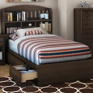 Twin Bed With Bookcases Headboard Within Fashionable Southshore 2 Piece Bedroom Set – Popular Twin Bookcase Headboard (View 13 of 15)
