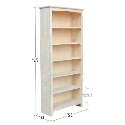 Unfinished Bookcases In Popular Unfinished Wood – Bookcases – Home Office Furniture – The Home Depot (View 10 of 15)