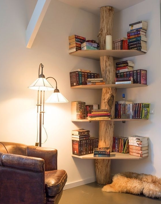 Unique Bookcases Inside Most Recent Vibrant Unique Book Shelf Best 25 Creative Bookshelves Ideas On (Gallery 13 of 15)