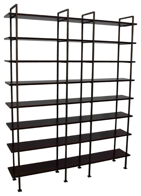 Very Tall Bookcases For Current Chelsea Tall Bookcase Transitional Bookcases Mortise Black Metal (Gallery 14 of 15)