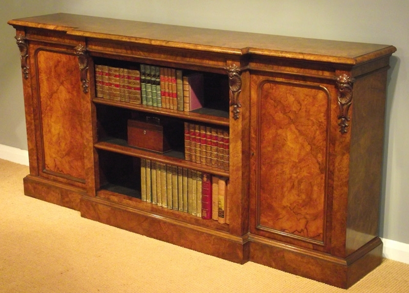 Victorian Burr Walnut Bookcase – Bookcases And Display Cabinets Regarding Favorite Walnut Bookcases (View 10 of 15)