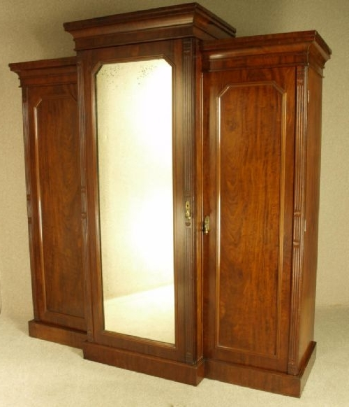 Victorian Mahogany Breakfront Wardrobes Throughout Latest Victorian Mahogany Breakfront Wardrobe Circa 1870 (Gallery 11 of 15)