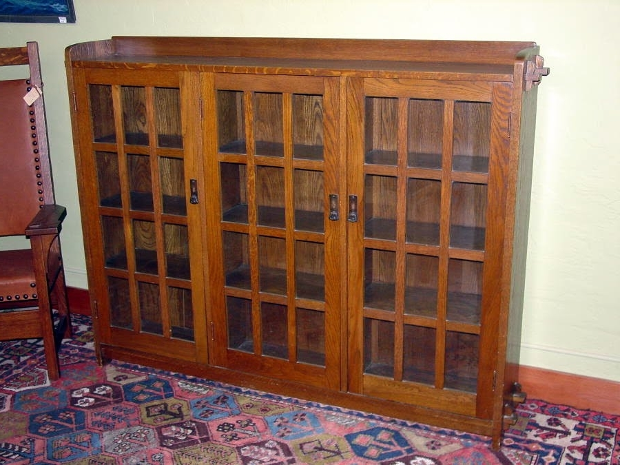 Voorhees Craftsman Mission Oak Furniture – Original Vintage L Inside Most Current Stickley Bookcases (View 15 of 15)