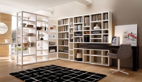 Wall Bookcases With Recent Putting Up Walls: 10 Gorgeous Wall Mounted Bookcases (View 13 of 15)
