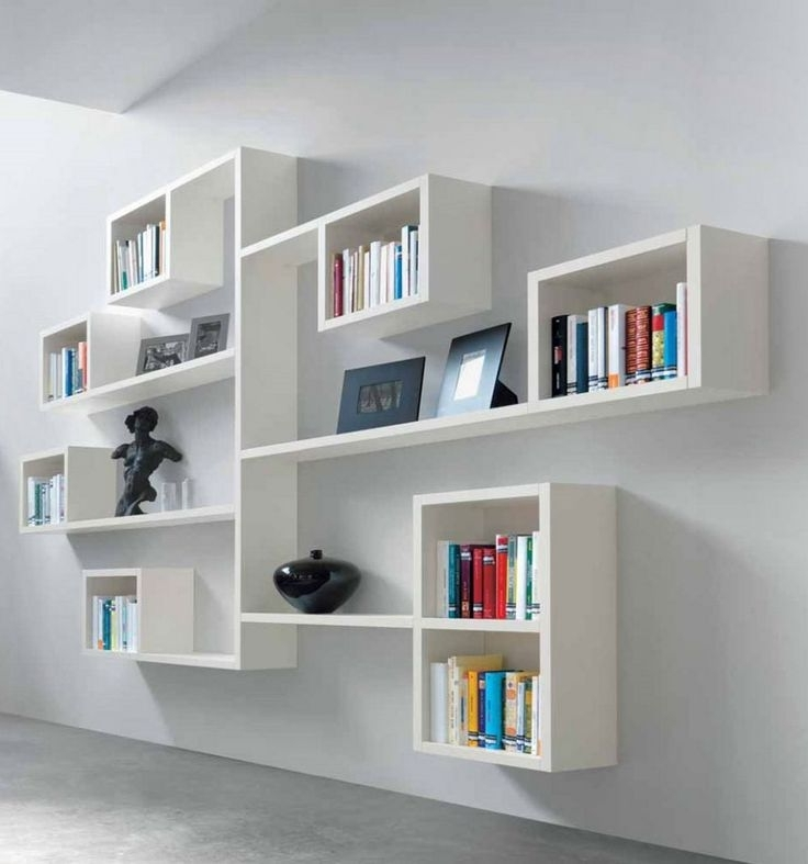 Wall Mounted Bookcases Regarding Newest Decorate Your Room With A Wall Mounted Bookcase (View 6 of 15)